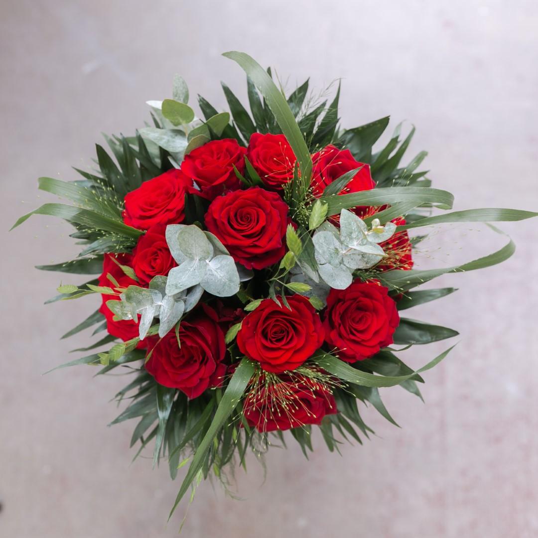 """Bouquet De Fleur Pour St Valentin passion + bougie - offre saint valentin """"14 février"""""""