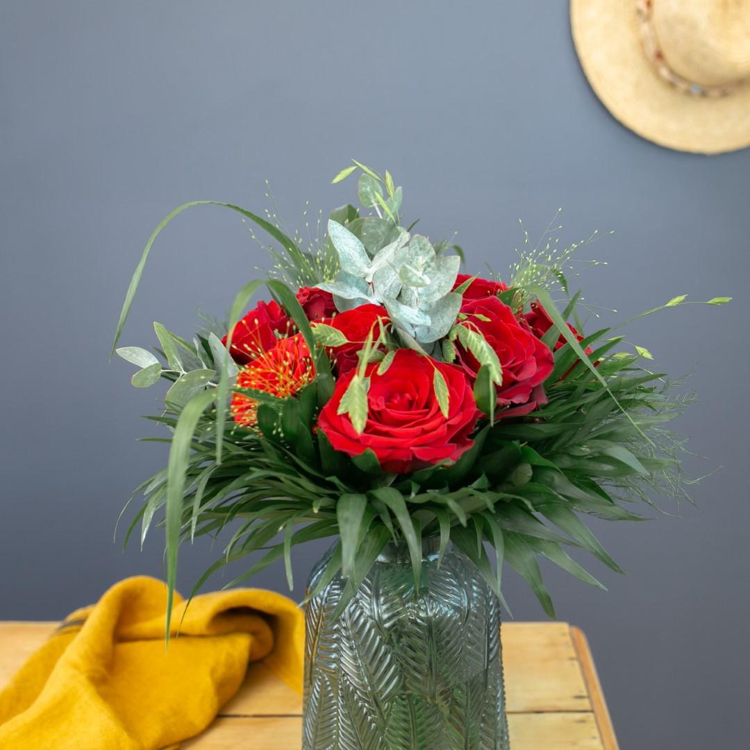 """Combien De Rose Pour La St Valentin passion + champagne - offre saint valentin """"14 février"""""""